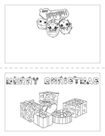 frohe weihnachten karte zum ausmalen zum ausmalen. Black Bedroom Furniture Sets. Home Design Ideas