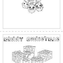 Frohe Weihnachten Karte zum Ausmalen