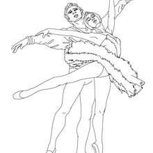 Ballettpaar zum Ausmalen