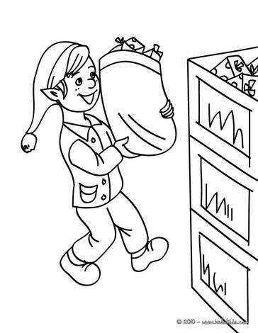 weihnachtswichtel lagern geschenke im weihnachtsmannwarenhaus zum ausmalen zum ausmalen de. Black Bedroom Furniture Sets. Home Design Ideas