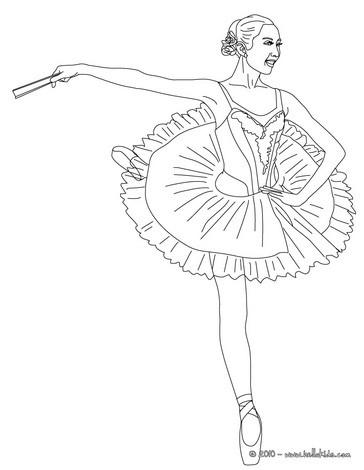 Schöne Ballerina Zum Ausmalen Zum Ausmalen De Hellokids Com