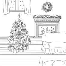 Weihnachtsbaumlichter zum Ausmalen