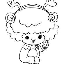 Seated christmas sheep coloring page - Coloring page - HOLIDAY coloring pages - CHRISTMAS coloring pages - NATIVITY coloring pages - NATIVITY ANIMALS coloring pages