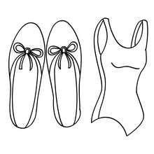 Ballettkleidung zum Ausmalen
