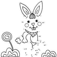 Kaninchen Punkte verbinden