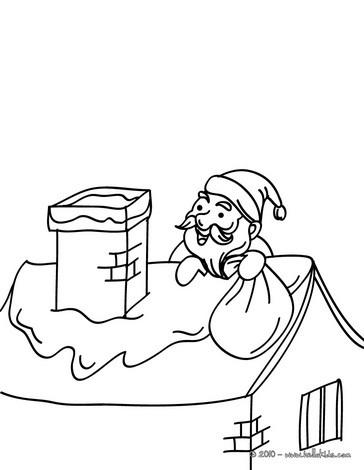 Nikolaus auf einem dach zum ausmalen zum ausmalen de - Dibujos de tejados ...