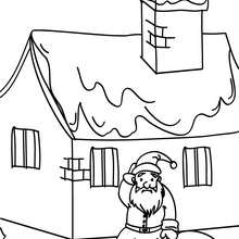 Der Nikolaus an Weihnachten zum Ausmalen