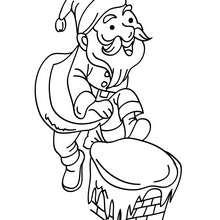 Glücklicher Nikolaus zum Ausmalen