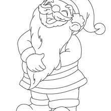 Nikolaus lacht zum Ausmalen