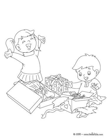 Kinder 246 Ffnen Ihre Geschenke Zum Ausmalen Zum Ausmalen