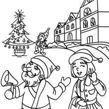 Weihnachtsdorf zum Ausmalen