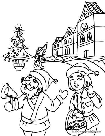 Weihnachtsdorf zum ausmalen zum ausmalen - Coloriage village de noel ...