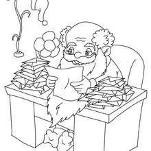 Weihnachtsmann schreibt Briefe zum Ausmalen