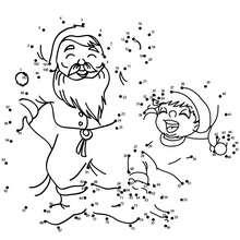 SANTA CLAUS FOR CHRISTMAS dot to dot - Free Kids Games - CONNECT THE DOTS games - CHRISTMAS dot to dot