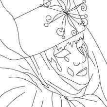 Venezianische Maske mit Tränen zum Ausmalen
