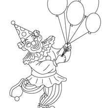 Clown mit Ballons zum Ausmalen