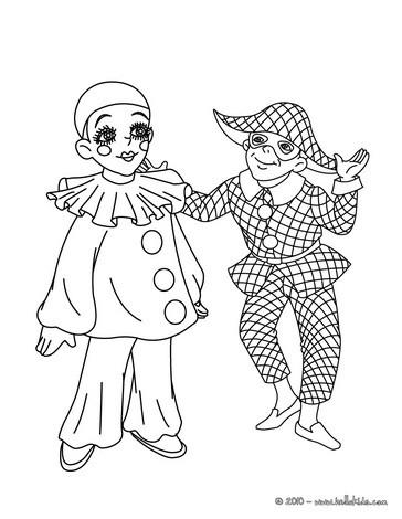 Pierrot und harlekin zum ausmalen zum ausmalen de - Dessin de pierrot ...