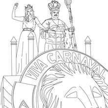 Karnevalskönig und Königin zum Ausmalen