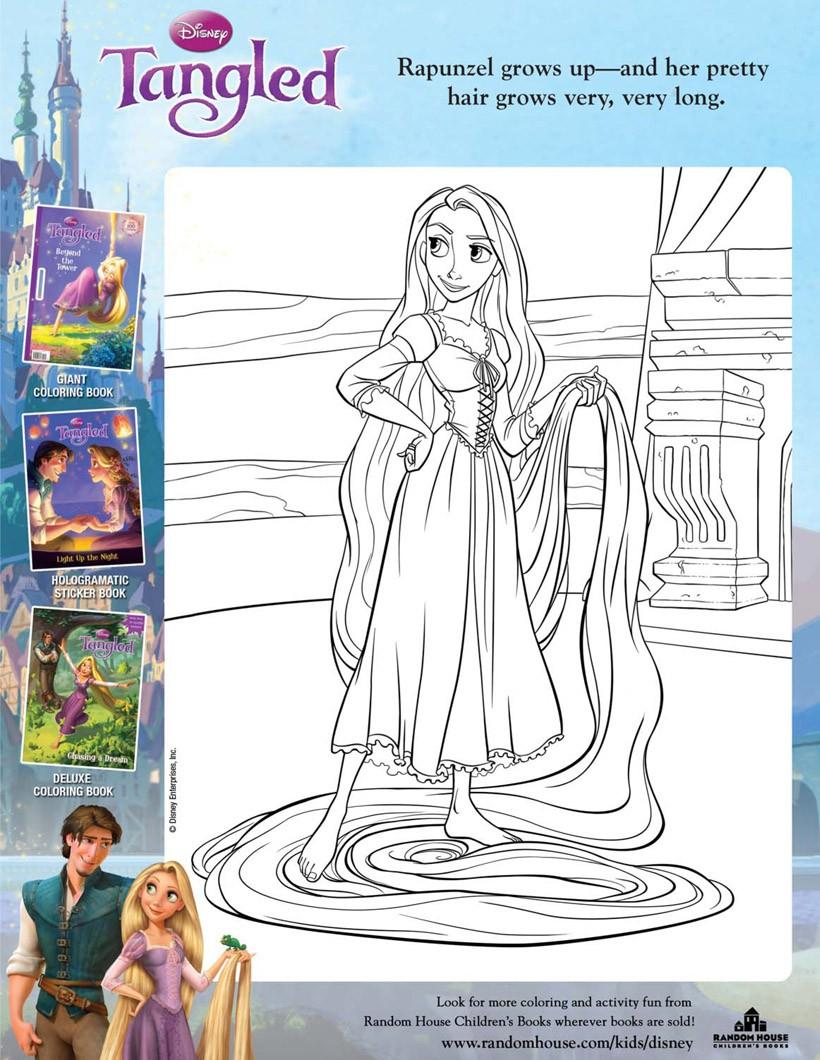 Rapunzel Mit Ihrem Langen Haar Zum Ausmalen Zum Ausmalen De
