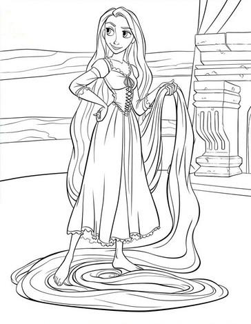 Rapunzel Zum Ausmalen Zum Ausmalen Dehellokidscom