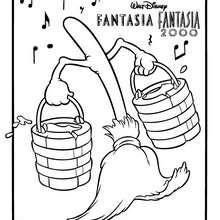 Fantasia ZAUBERBESEN zum Ausmalen