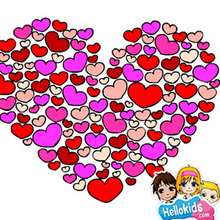Valentinstag Herzen Puzzle