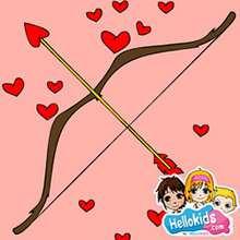 Valentinstag Bogen und Pfeile Schiebepuzzle