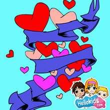 Blaues Herz Schiebepuzzle