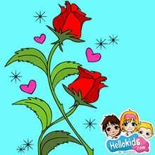 Valentine rose sliding puzzle - Free Kids Games - SLIDING PUZZLES FOR KIDS - VALENTINE sliding puzzles