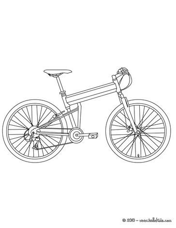 Fahrrad zum ausmalen zum ausmalen - Dessin velo vtt ...