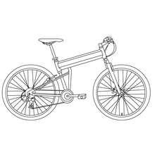 Fahrrad zum Ausmalen