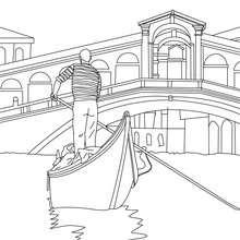 Venezianisches Boot zum Ausmalen