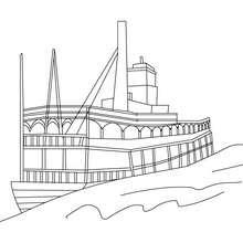 Dampfschiff zum Ausmalen