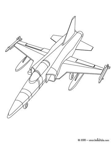 Kampfflieger zum ausmalen zum ausmalen - Dessin d avion facile ...