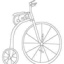 Altes Fahrrad zum Ausmalen