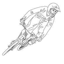 Rennradfahrer zum Ausmalen