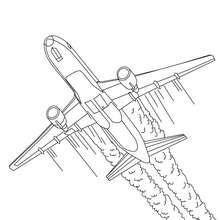 Flugzeug hebt ab zum Ausmalen