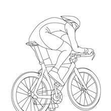 Rennrad von der Seite zum Ausmalen