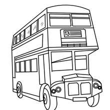 Englischer Doppeldeckerbus Zum Ausmalen Zum Ausmalen De Hellokids Com
