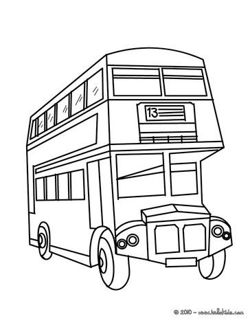 Englischer Doppeldeckerbus Zum Ausmalen Zum Ausmalen