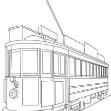 San Francisco alte Tram zum Ausmalen