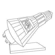 Raumkapsel zum Ausmalen