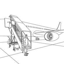 Flugpassagiere zum Ausmalen