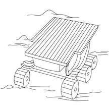 Raumwagen zum Ausmalen