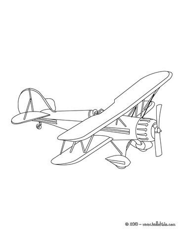 Altes Flugzeug Zum Ausmalen Zum Ausmalen De Hellokids Com