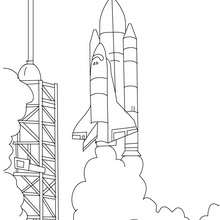 Spaceshuttle bereit zum Abheben zum Ausmalen