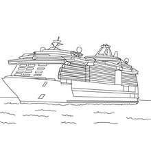 Kreuzfahrtschiff zum Ausmalen