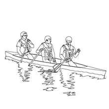 Kanu auf dem Fluss zum Ausmalen