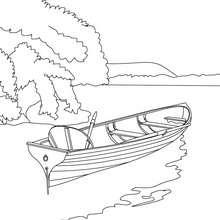 Ruderboot auf dem See zum Ausmalen