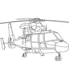 Bundeswehrhelikopter zum Ausmalen